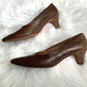 Vintage genuine Alligator Leather Pumps 8.5N
